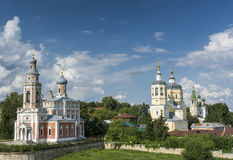 Orthodox Church against a beautiful sky. Serpukhov, Russia Stock Image