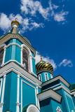 Orthodox church against the blue sky stock photo