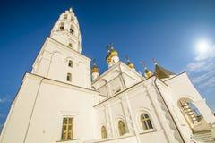 Orthodox Church against the blue sky Stock Photos