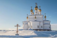 Orthodox Church against the blue sky Royalty Free Stock Images