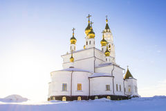 Orthodox Church against the blue sky Royalty Free Stock Photography