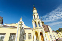 Orthodox church against the blue sky Royalty Free Stock Photos