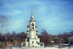 Orthodox church against blue spring sky Stock Photography