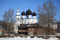 Orthodox church against blue spring sky Stock Photography