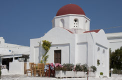 Orthodox church of Agia Moni Stock Photo