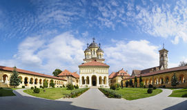 Orthodox church in alba iulia, Transylvania. Panorama of the orthodox reunification church in the center of alba iulia in transylvania, romania Stock Photo