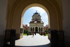 Orthodox church in Alba Iulia - Transylvania Stock Image