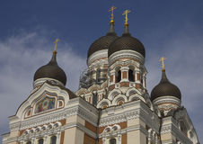 Orthodox Church. Alexander Nevsky Cathedral in Tallinn (Estonia). Famous sightseen Stock Photos