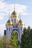 Orthodox Church of all saints at the top of Mamayev Kurgan Royalty Free Stock Photos