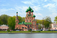 Orthodox church in ancient manor Ostankino, Moscow Stock Photography