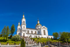 Orthodox Church. Assumption Cathedral in Vitebsk, Belarus. The Orthodox Church in the center of the city on a high mountain. The city`s main attraction royalty free stock photography