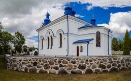 Orthodox church of Assumption in Kleszczele Stock Image