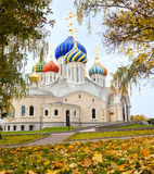 Orthodox church at autumn Royalty Free Stock Images