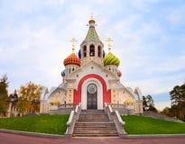 Orthodox church at autumn Stock Photography