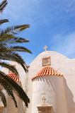 Orthodox Church behind palm tree fronds Royalty Free Stock Images
