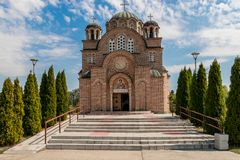 Orthodox church in Belgrade stock photography