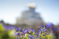 Orthodox church in blurred style stock photography