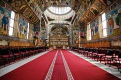 Orthodox church in Brasov. Brasov, Romania, July 2019: The inside of The Biserica schimbarea la fata Transfiguration Cathedral royalty free stock image