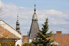 Orthodox church broachs and roofs Stock Photography