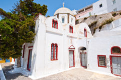 Orthodox church in the capital of Santorini Fira. Greece. Royalty Free Stock Photography