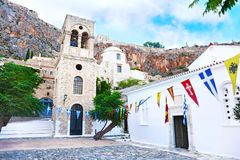 Church inside the castle of Monemvasia Laconia Peloponnese Greece Royalty Free Stock Photos