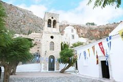 Church at the castle of Monemvasia Peloponnese Greece Royalty Free Stock Photography
