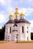 Orthodox church in Chernigiv, Ukraine. Orthodox Catherine's church with golden domes in Chernigiv, Ukraine. Chernihiv is one of oldest cities in Ukraine stock photo