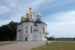Orthodox church in Chernigiv, Ukraine. Orthodox Catherine's church with golden domes in Chernigiv, Ukraine. Chernihiv is one of oldest cities in Ukraine stock images