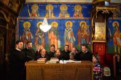 Orthodox church choir Stock Photos