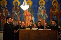 Orthodox church choir Royalty Free Stock Photo