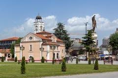 Orthodox Church of Church St. Demetrius and Philip II of Macedon Monument in Skopje, Stock Photography