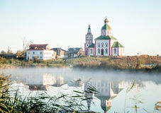 Orthodox church in city of Suzdal Russia Royalty Free Stock Images