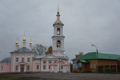 The Orthodox Church and compound in the provincial town of Kimry in Tver region Royalty Free Stock Photography