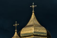 Orthodox Church. Concept - opposition of opposing forces royalty free stock photography