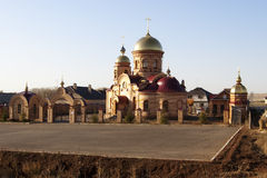 Orthodox Church in the countryside. Church Matrona of Moscow. Mallorcan village, Sakmarsky District, Orenburg region. Russia Royalty Free Stock Images