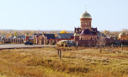 Orthodox Church in the countryside. Russia Stock Images