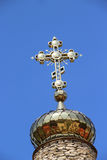 Orthodox church and cross Royalty Free Stock Image