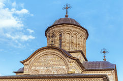 Orthodox church cupola. Old Byzantine style Christian Orthodox church cupola Royalty Free Stock Images