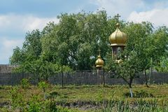 Orthodox church in Danube Delta royalty free stock images