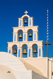 Orthodox church details, Akrotiri village, Santorini Royalty Free Stock Images