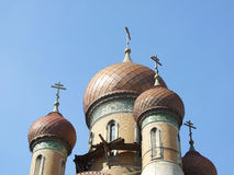 Orthodox church dome. On blue sky Royalty Free Stock Photos