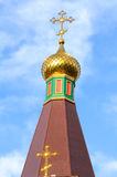 Orthodox church dome Stock Images