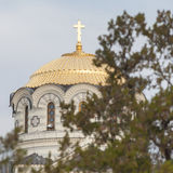 Orthodox church dome Stock Image