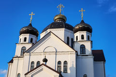 Orthodox Church with domes Royalty Free Stock Photography