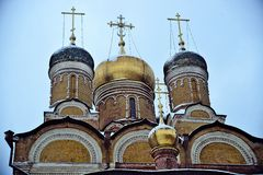 Orthodox church with domes Stock Image