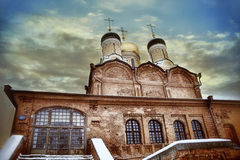 Orthodox church with domes Royalty Free Stock Photos