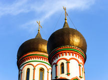 Orthodox church domes in Moscow, Russia Stock Images