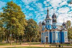 Orthodox church in Druskininkai city, Lithuania. Orthodox church in Druskininkai resort city, Lithuania royalty free stock image