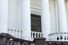 An Orthodox Church. entrance and columns royalty free stock photography
