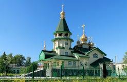 ORTHODOX CHURCH IN ESTONIA. Wooden orthodox churc in Estonian Paldiski city Royalty Free Stock Image